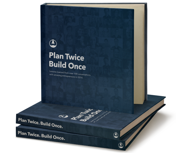 Hardcover Plan Twice, Build Once Rocketship.fm Book