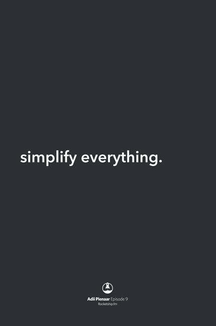 Adii Simplify Everything Poster