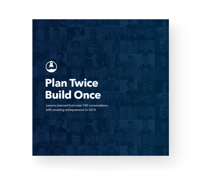Plan twice, build once softcover book